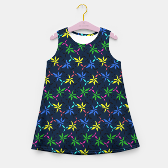 Miniaturka Colored Leaves Girl's summer dress, Live Heroes