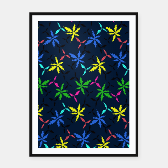 Miniaturka Colored Leaves Framed poster, Live Heroes