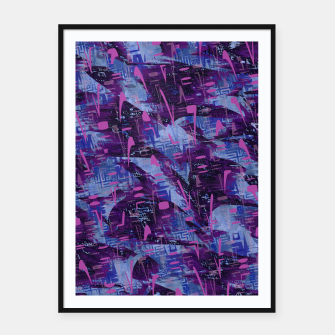 Thumbnail image of Techno Grunge Punk  Framed poster, Live Heroes