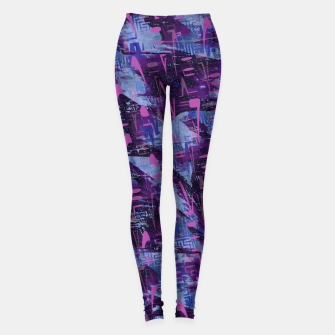 Thumbnail image of Techno Grunge Punk  Leggings, Live Heroes