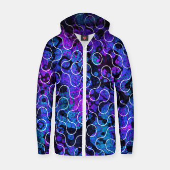 Thumbnail image of Psychedelic Underwater Ocean Dreams  Cotton zip up hoodie, Live Heroes