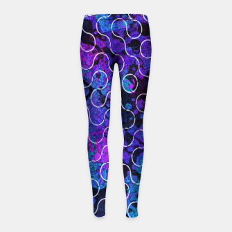 Thumbnail image of Psychedelic Underwater Ocean Dreams  Girl's leggings, Live Heroes