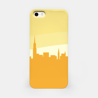 Miniaturka iPhone case town silhouette gold, Live Heroes