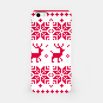 Thumbnail image of iPhone case Deers red on white, Live Heroes