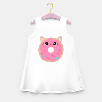 Miniatur Donut Kitty Girl's summer dress, Live Heroes