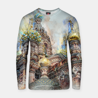 Thumbnail image of Saint Petersburg City Russia Colour Digial Painting Cotton sweater, Live Heroes