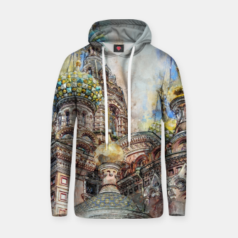 Thumbnail image of Saint Petersburg City Russia Colour Digial Painting Cotton hoodie, Live Heroes