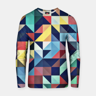 Thumbnail image of Modern Colorful Retro Geometric Triangle Pattern Cotton sweater, Live Heroes
