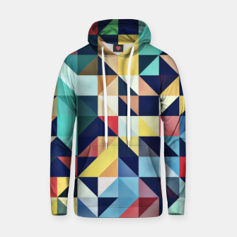 Miniature de image de Modern Colorful Retro Geometric Triangle Pattern Cotton hoodie, Live Heroes