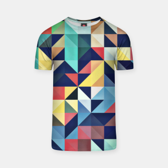 Thumbnail image of Modern Colorful Retro Geometric Triangle Pattern T-shirt, Live Heroes