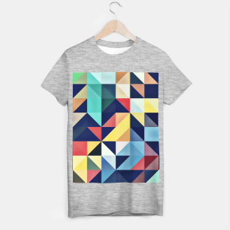 Thumbnail image of Modern Colorful Retro Geometric Triangle Pattern T-shirt regular, Live Heroes
