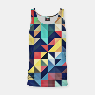 Thumbnail image of Modern Colorful Retro Geometric Triangle Pattern Tank Top, Live Heroes