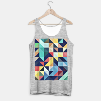 Thumbnail image of Modern Colorful Retro Geometric Triangle Pattern Tank Top regular, Live Heroes