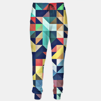 Thumbnail image of Modern Colorful Retro Geometric Triangle Pattern Cotton sweatpants, Live Heroes