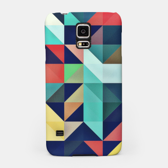 Thumbnail image of Modern Colorful Retro Geometric Triangle Pattern Samsung Case, Live Heroes
