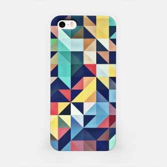 Thumbnail image of Modern Colorful Retro Geometric Triangle Pattern iPhone Case, Live Heroes