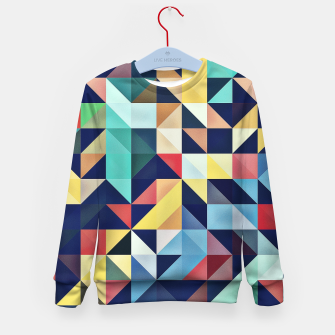 Thumbnail image of Modern Colorful Retro Geometric Triangle Pattern Kid's sweater, Live Heroes