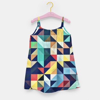 Thumbnail image of Modern Colorful Retro Geometric Triangle Pattern Girl's dress, Live Heroes