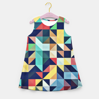 Thumbnail image of Modern Colorful Retro Geometric Triangle Pattern Girl's summer dress, Live Heroes