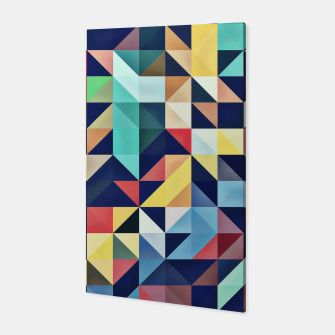 Thumbnail image of Modern Colorful Retro Geometric Triangle Pattern Canvas, Live Heroes