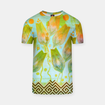 Thumbnail image of Abstract flowers pattern  T-shirt, Live Heroes