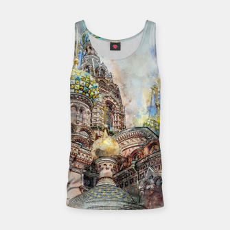Thumbnail image of Saint Petersburg City Russia Colour Digial Painting Tank Top, Live Heroes