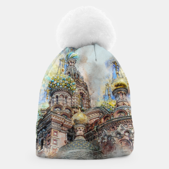 Thumbnail image of Saint Petersburg City Russia Colour Digial Painting Beanie, Live Heroes