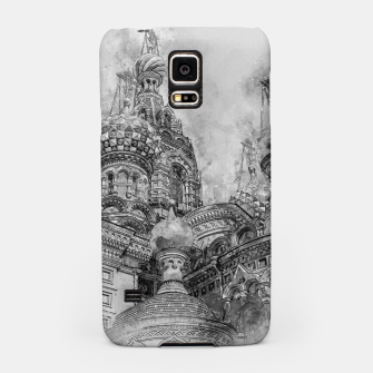 Thumbnail image of Saint Petersburg City Russia black and White Digial Painting Samsung Case, Live Heroes
