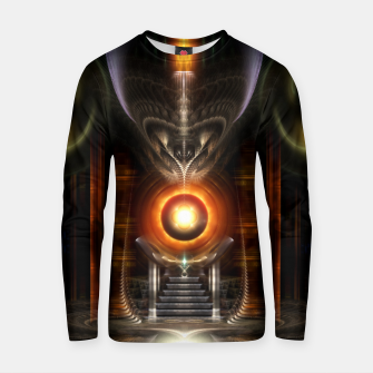 Thumbnail image of The Throne Room Fractal Art Architecture Zm Cotton sweater, Live Heroes
