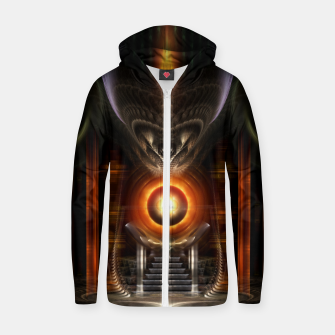Thumbnail image of The Throne Room Fractal Art Architecture Zm Cotton zip up hoodie, Live Heroes
