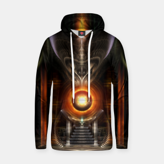 Thumbnail image of The Throne Room Fractal Art Architecture Cotton hoodie, Live Heroes