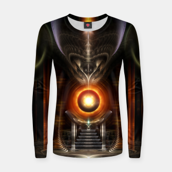 Thumbnail image of The Throne Room Fractal Art Architecture Woman cotton sweater, Live Heroes