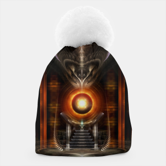 Thumbnail image of The Throne Room Fractal Art Architecture Beanie, Live Heroes