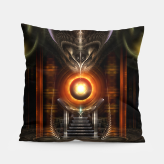 Thumbnail image of The Throne Room Fractal Art Architecture Pillow, Live Heroes