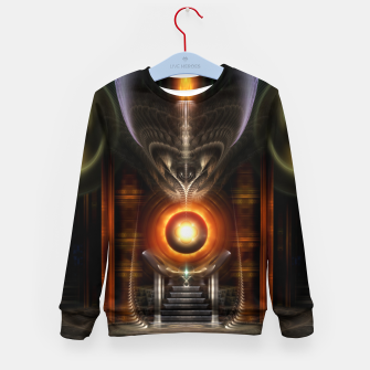 Thumbnail image of The Throne Room Fractal Art Architecture Kid's sweater, Live Heroes