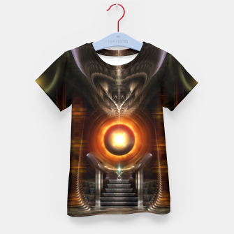 Thumbnail image of The Throne Room Fractal Art Architecture Kid's t-shirt, Live Heroes