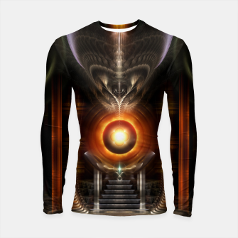 Thumbnail image of The Throne Room Fractal Art Architecture Longsleeve rashguard , Live Heroes