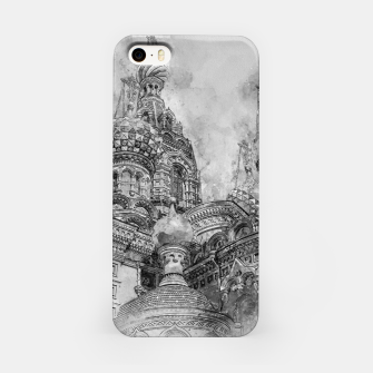 Thumbnail image of Saint Petersburg City Russia black and White Digial Painting iPhone Case, Live Heroes