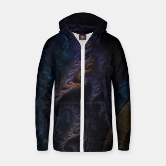 Thumbnail image of Orthricon Fantasy Fractal Art Cotton zip up hoodie, Live Heroes