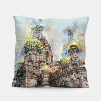 Thumbnail image of Saint Petersburg City Russia Colour Digial Painting Pillow, Live Heroes
