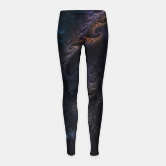 Thumbnail image of Orthricon Fantasy Fractal Art Girl's leggings, Live Heroes