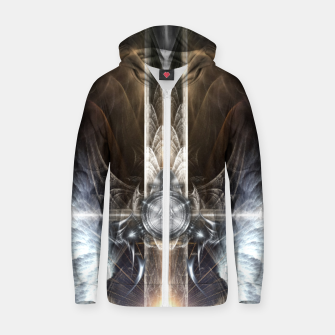 Thumbnail image of Heavenly Angel Wings Cross Cotton zip up hoodie, Live Heroes