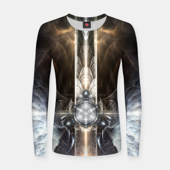 Thumbnail image of Heavenly Angel Wings Cross Woman cotton sweater, Live Heroes
