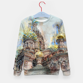 Thumbnail image of Saint Petersburg City Russia Colour Digial Painting Kid's sweater, Live Heroes