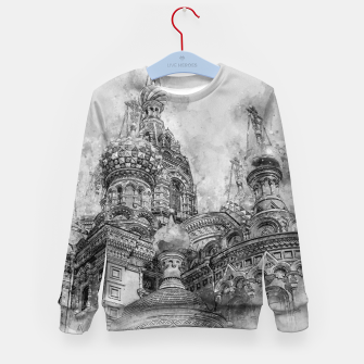 Thumbnail image of Saint Petersburg City Russia black and White Digial Painting Kid's sweater, Live Heroes