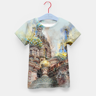 Thumbnail image of Saint Petersburg City Russia Colour Digial Painting Kid's t-shirt, Live Heroes