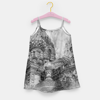 Thumbnail image of Saint Petersburg City Russia black and White Digial Painting Girl's dress, Live Heroes