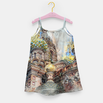 Thumbnail image of Saint Petersburg City Russia Colour Digial Painting Girl's dress, Live Heroes