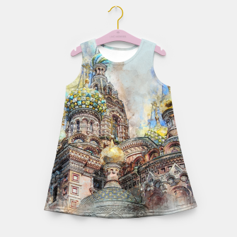 Thumbnail image of Saint Petersburg City Russia Colour Digial Painting Girl's summer dress, Live Heroes