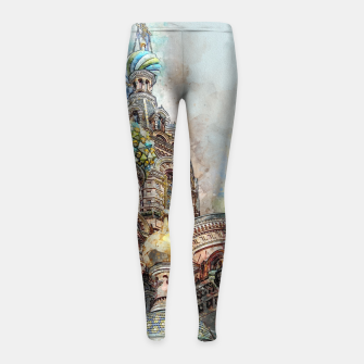 Thumbnail image of Saint Petersburg City Russia Colour Digial Painting Girl's leggings, Live Heroes